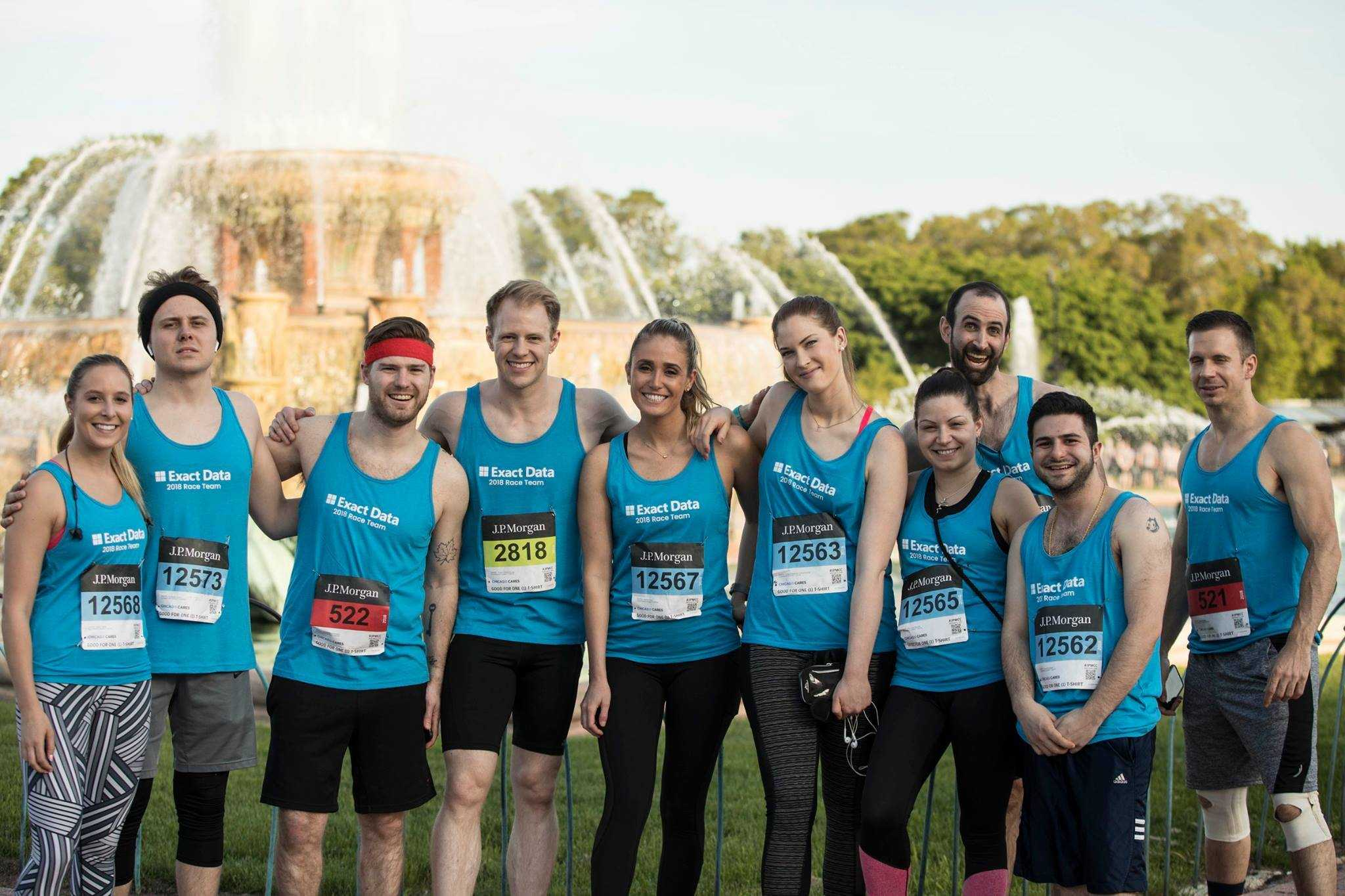 Team Exact Data Crosses the Chase Corporate Challenge Finish Line